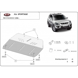 Kia Sportage Unterfahrschutz 2.0 CRDi, 2.7 Allroad - Stahl