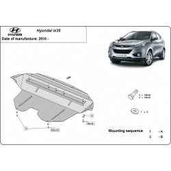 Hyundai IX35 Unterfahrschutz - Stahl