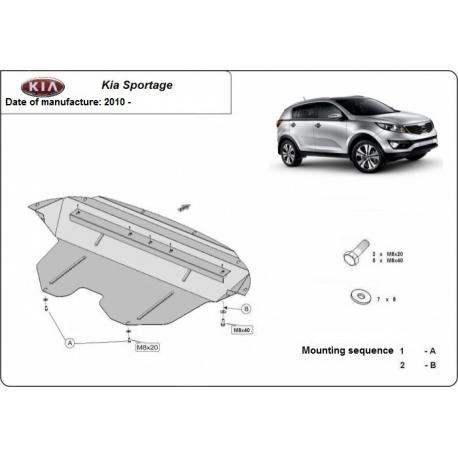 Kia Sportage Unterfahrschutz 1.5, 1.6, 2.0 CRDi - Stahl