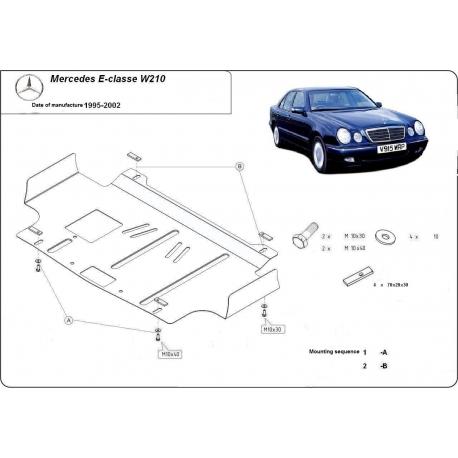 Mercedes E-Classe W210 Unterfahrschutz - Stahl
