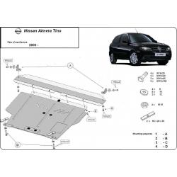 Nissan Almera Tino Unterfahrschutz 1.6, 1.8, 2.0, 2.2 - Stahl