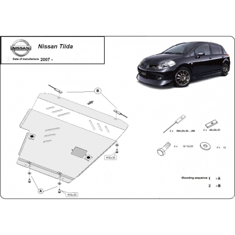 Nissan Tiida Unterfahrschutz 1.6 - Stahl