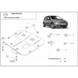 Opel Corsa C Unterfahrschutz 1.3 - Stahl