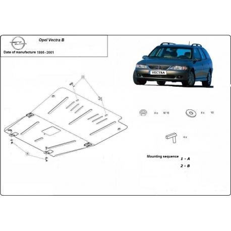 Opel Vectra B Unterfahrschutz - Stahl