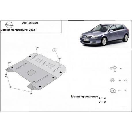 Opel Signum Unterfahrschutz 1.4, 1.6, 1.7,TDi - Stahl