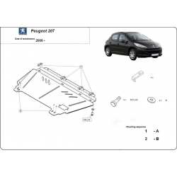 Peugeot 207 Unterfahrschutz 1.4, 1.6 - Stahl