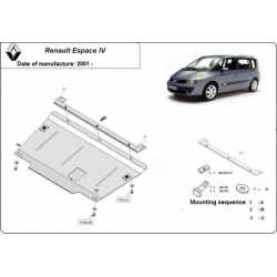Renault Espace IV Unterfahrschutz 1.6, 1.8, 1.9dCi, 2.0dCi, 2.2dCi, 3.0V6 - Stahl