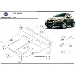 Fiat Sedici Unterfahrschutz 4x4, 1.5 ,1.6 (4x4), 1.9TD - Stahl