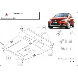 Suzuki SX4-2WD, 4WD Unterfahrschutz 1.5, 1.6 (4x4), 1.9TD - Stahl