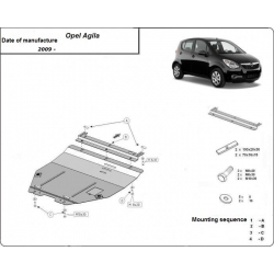 Opel Agila Unterfahrschutz 1.0, 1.1, 1.3 - Stahl