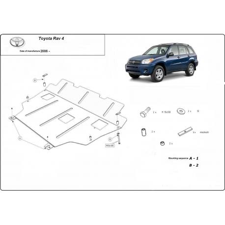 Toyota Rav4 Unterfahrschutz 2.4 - Stahl