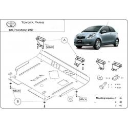 Toyota Yaris II Unterfahrschutz - Stahl