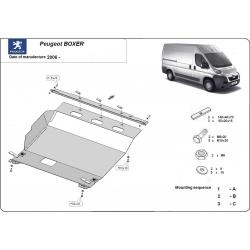 Peugeot Boxer Unterfahrschutz 2.2HDi, 2.3TD, 3.0HDi - Stahl