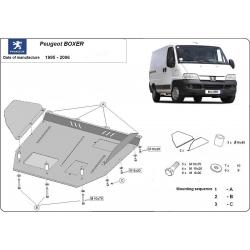 Peugeot Boxer Unterfahrschutz 1.9D, 1.9TD, 2.0, 2.3JTD, 2.5TD, 2.8JTD - Stahl