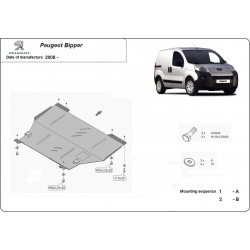 Peugeot Bipper Unterfahrschutz 1.4, 1.9TDi - Stahl