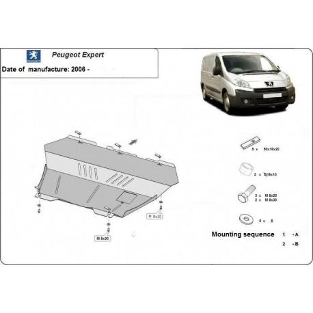 Peugeot Expert Unterfahrschutz 1.6, 1.8HDI, 1.9TD, 2.0HDi - Stahl
