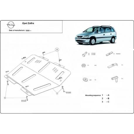 Opel Zafira Unterfahrschutz - Stahl