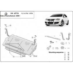 VW Jetta Unterfahrschutz 1.2, 1.4TSI, 1.6TDi - Stahl