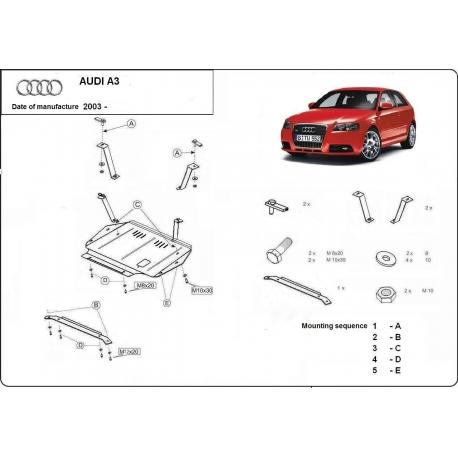Audi A3 Unterfahrschutz - Stahl