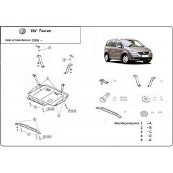 VW Touran Unterfahrschutz 1.9PD, TDi - Stahl