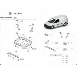 VW Caddy Unterfahrschutz 1.9PD, TDi - Stahl