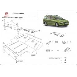 Seat Cordoba Unterfahrschutz 1.4, 1.6 - Stahl