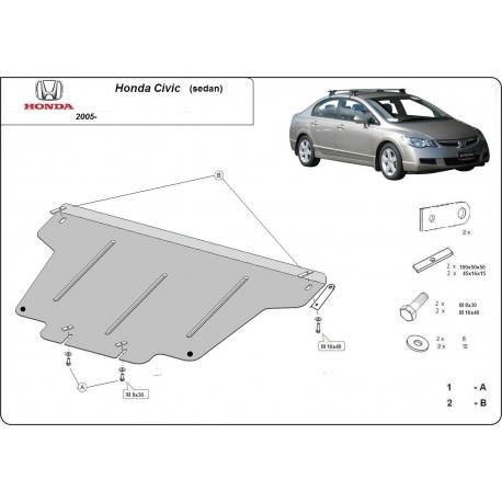 Honda Civic (sedan) Unterfahrschutz 1.8, 1.3 Hybrid - Stahl