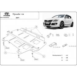 Hyundai i30 Unterfahrschutz 1.4, 1.6, 2.0 - Stahl