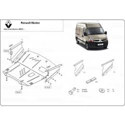 Renault Master Unterfahrschutz 1.9dTi, 2.2dCi, 2.5dCi, 2.8dCi, 3.0dCi - Stahl