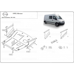 Opel Movano Unterfahrschutz 1.9dTi, 2.2dCi, 2.5dCi, 2.8dCi, 3.0dCi - Stahl
