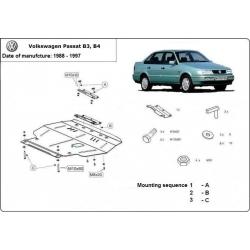 VW Passat B3, B4 Unterfahrschutz 1.4, 1.6, 1.9D servo - Stahl