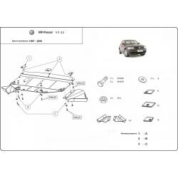 VW Passat B5 Unterfahrschutz V5, 2.3 - Stahl