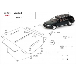Audi A6 Getriebeschutz 2.6, 2.8, 2.5D, 2.4TDi - Stahl