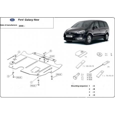 Ford Galaxy Unterfahrschutz 1.8, 2.0, 2.2TDi - Stahl