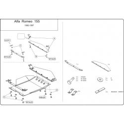 Alfa Romeo 155 Motor und Getriebeschutz - Stahl