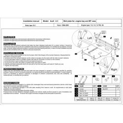Audi A3 Motor und Getriebeschutz 1.6, 1.8, 1.9 TDI, S3 quattro - Stahl