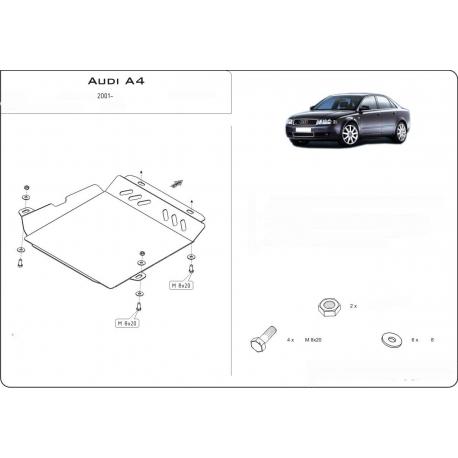 Audi A4 (Automaticgetriebe schutz) 1.8T - Stahl
