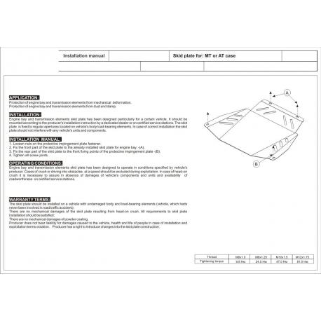 Audi A6 Getriebeschutz 2.0, 2.5TDI - Stahl