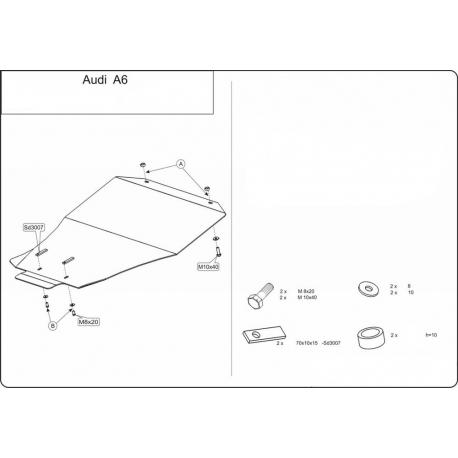 Audi A6 Motor und Getriebeschutz - Alluminium