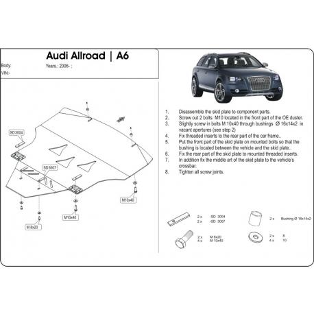 Audi A6 Allroad Motor und Getriebeschutz - Alluminium