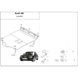 Audi A8 Motor und Getriebeschutz 3.2 FSI, 4.2 FSI, 4.2 TDI - Alluminium