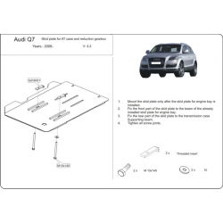 Audi Q7, S-Line Getriebeschutz 3.6 FSI, 4.2 FSI - Stahl