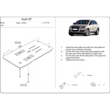 Audi Q7 Getriebeschutz 3.0 TDI - Alluminium