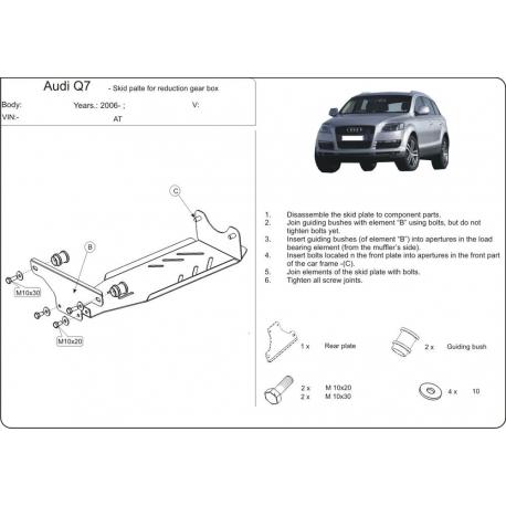 Audi Q7, S-Line (Schutz für Differential) - Stahl