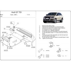 Audi Q7 ne s Off Road Style Paket Unterfahrschutz 3.0 TDI, 4.2 TDI - Stahl