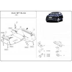 Audi Q7, S-Line Unterfahrschutz 4.2 - Alluminium