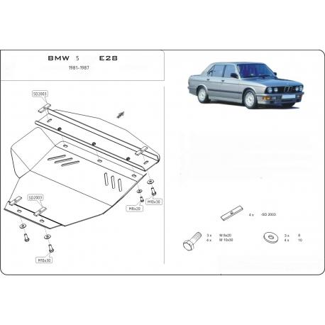 BMW E28 Unterfahrschutz 1.8 - Stahl