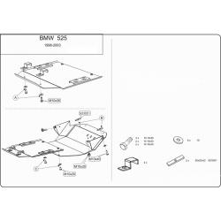 BMW E34 Unterfahrschutz 2.5 (4x4) - Stahl