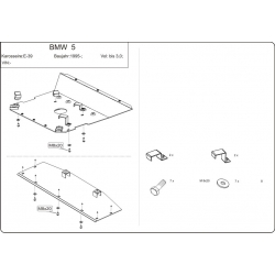 BMW E39 Unterfahrschutz 2.0, 2.3, 2.5, 2.8 - Stahl