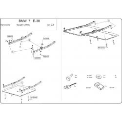 BMW E31 Unterfahrschutz - Stahl